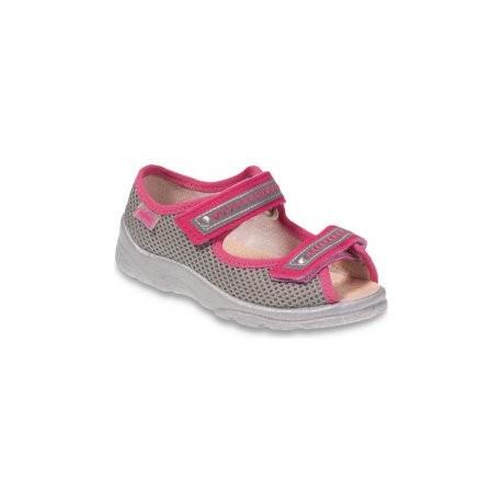 Befado 969Y095 dětské sandále s koženou stélkou