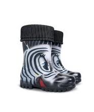 Holinky Demar zebra, dětské gumovky od vel.28