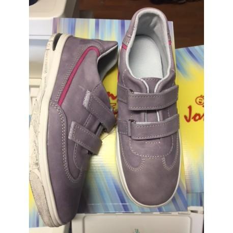 Celokožené boty Jonap fialové