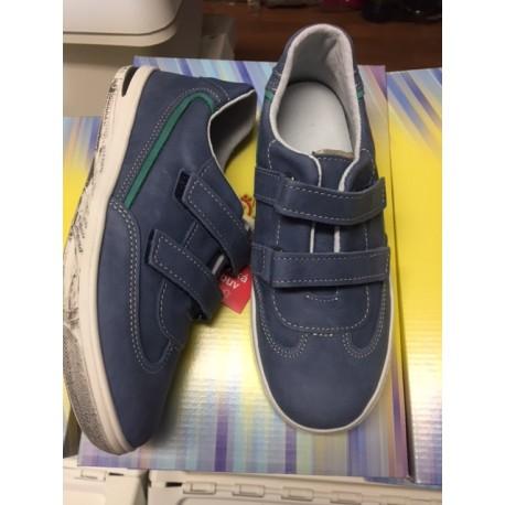 Celokožené boty Jonap modré